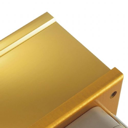 Intumescent Fire - Smoke & Acoustic Rated Telescopic Letter Box System 12 inch Gold Anodised